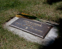 Possible Grave of D.B. Cooper. According to his niece. This is the headstone and grave of D.B. Cooper famous for parachuting out of an airplane he hijacked in Stock Images