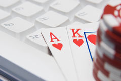 Possible royal flush? Royalty Free Stock Image