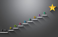 Possible stair steps to success Stock Images