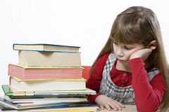 Is it possible to read all these books? Royalty Free Stock Photography