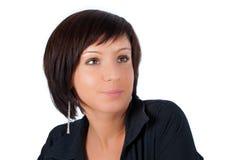 Possing pretty brunette female Stock Image