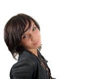Possing pretty brunette female Stock Images