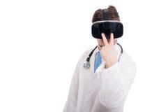 Posso vedervi gesture fatto da medico fotografia stock libera da diritti