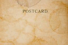 Postérieur de carte postale vide avec la tache Image stock