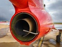 Postępowy dżetowy trenera CASA C-101 Aviojet parowozowy tylni perspektywiczny widok obraz royalty free