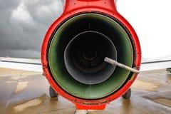 Postępowy dżetowy trenera CASA C-101 Aviojet parowozowy tylni widok zdjęcia stock