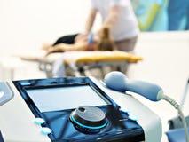 Postępowy elektroniczny fizjoterapia system zdjęcie stock