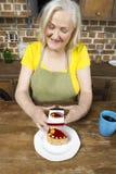 Postępowy nowożytny starszy babci pojęcie zdjęcie stock