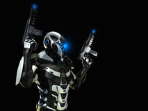 Postępowy przyszłościowy żołnierz Zdjęcie Stock