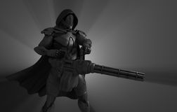 Postępowy super żołnierz ilustracji