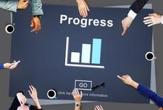 Postępu rozwoju Imrpovement popierania pojęcie zdjęcie stock