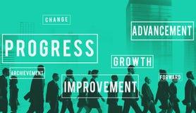 Postępu rozwoju innowaci ulepszenia pojęcie zdjęcie stock