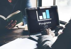 Postępu rozwoju ulepszenia popierania pojęcie obrazy stock