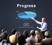 Postępu rozwoju ulepszenia popierania pojęcie zdjęcie stock