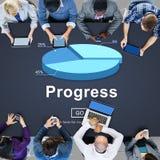 Postępu rozwoju ulepszenia popierania pojęcie fotografia royalty free