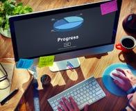 Postępu rozwoju ulepszenia popierania pojęcie zdjęcia royalty free