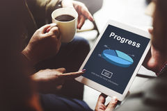 Postępu rozwoju ulepszenia popierania pojęcie zdjęcia stock