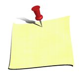 Post-it. An illustration of paper for notes Stock Photo