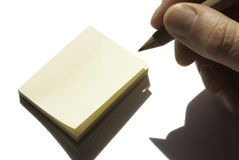 Post-it. Isolated For memo and other stock photo