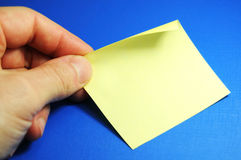 Post-it Photo libre de droits