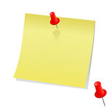 Post-it. You can write your note on it stock illustration