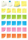 Post-it. High details illustration of notes and post-it collection Stock Photography