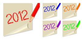 Post-it 2012 Foto de Stock Royalty Free