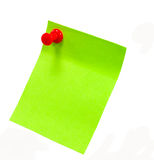 Post it. Image of green stick message slips Royalty Free Stock Photography