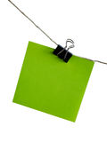 Post-it. Easy to isolate on white memo / post-it with clip Royalty Free Stock Photography
