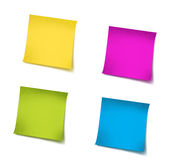 Post it. A yellow sticky note on a white background with clipping path stock illustration
