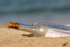 Post. Message in a bottle Royalty Free Stock Photos