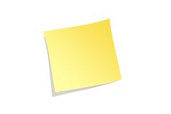 Post it. Yellow post it isolated background Stock Photos