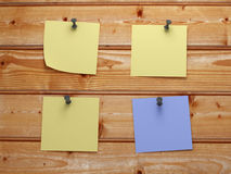 Post it on aces wood stock images