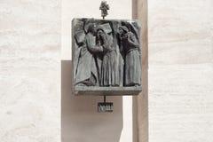 Post Acht: Jesus ontmoet de vrouwen van Jeruzalem Stock Afbeeldingen