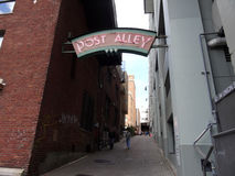 Post Alley, Pike Place Market, Seattle Stock Photos