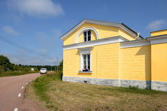 Post And Customs House In Eckero, Aland, Finland Stock Photos