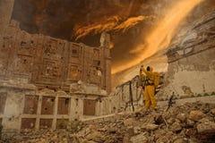 Post apocalypse scientist researcher Royalty Free Stock Photos