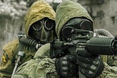 Post apocalypse survivors Stock Image