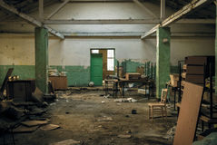 Post-apocalyptic interior Stock Image