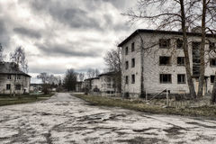 Post-apocalyptic town Stock Photography