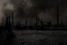 Post-apocalyptisch oorlogsscenario Stock Afbeelding