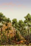 Post-apocalyptische Mesoamerican piramide Stock Fotografie