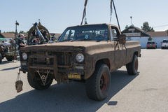Post-apocalyptische overlevingsvrachtwagen Royalty-vrije Stock Foto