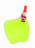Post it apple shaped clip with Christmas Stock Image