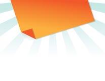 Post-it arancione Fotografie Stock Libere da Diritti