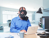 Post atomic worker Royalty Free Stock Photos