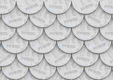 Post av mynt i en rubel Arkivbilder