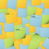 Post It background with text Royalty Free Stock Photography