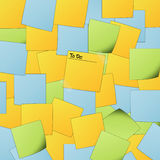 Post It background with text Stock Photography