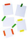 Post-it bianco isolato su un bianco Immagine Stock Libera da Diritti